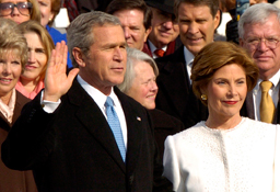 President George W. Bush was elected twice. He defeated Al Gore in 2000, and John Kerry in 2004.